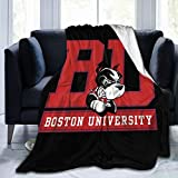 Boston University Terriers University Throw Blanket Kids Adults Ultra Soft Fleece Blanket Bed Couch Chair Living Room All Season 50'X40'