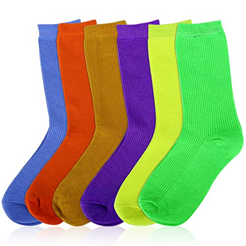 MOSOTECH Calcetines Mujer, 6 Pairs Color Brillante
