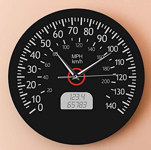 Reloj De Pared Acrílico Velocímetro SVG Reloj Colgante Diseño Moderno Servicio de Coche Reloj de Pared Mecánico de Carreras Kilómetros Impresión de Millas Sin tictac 30CM