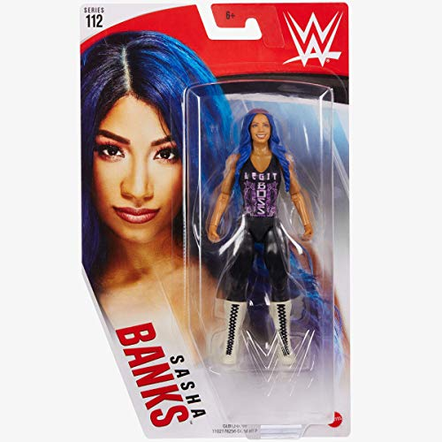 Collect WWE -112 Serie- Sasha Banks - Actionfigur, Bring die Action der WWE nach Hause - Ca. 6