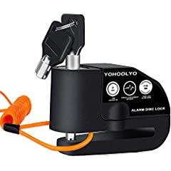 The Anti Theft Lock is made entirely of metal, it is sturdy and durable The alarm sound is able to reach to 110 db, the measure of the locking pin 7 mm that allows us to set at 360 degrees, and it is possible to fix it in any position It comes with t...