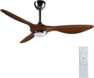 reiga 52-in Ceiling Fan with LED Light Kit Remote Control Modern Blade Noiseless Reversible Motor,6-Speed, 3 Color Tempera...