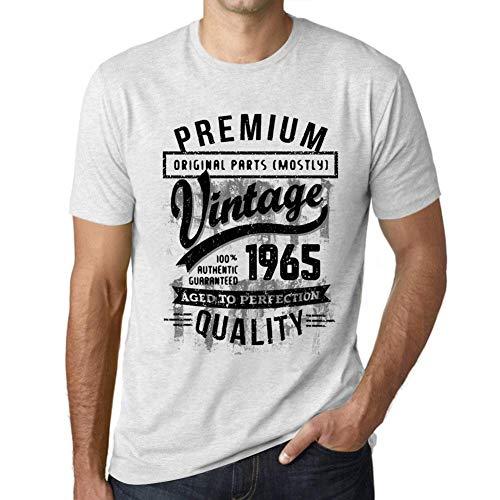 Ultrabasic T Shirt Magliette Uomo Manica Corta Vintage Regalo 1965 Compleanno 55 Anni Regalo Bianca Chiazzata