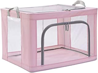 PPCP Storage Box Fabric Large Household Folding Clothing Storage Box Three Colors Optional (Color : Pink)
