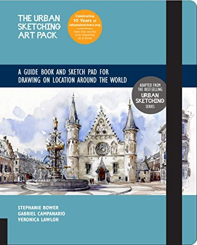 The Urban Sketching Art Pack A Guide Book and Sketch Pad for Drawing on Location Around the product image