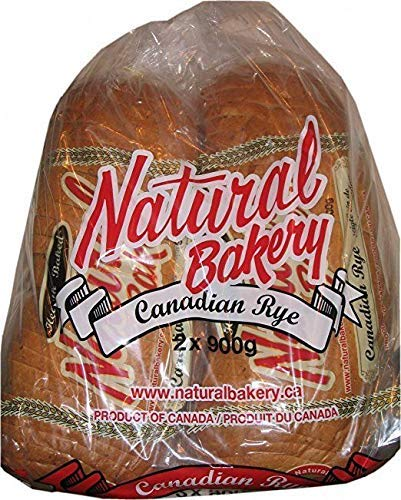 Natural Bakery Canadian Rye Bread, 900g/31.7 oz. 2pk {Imported from Canada}