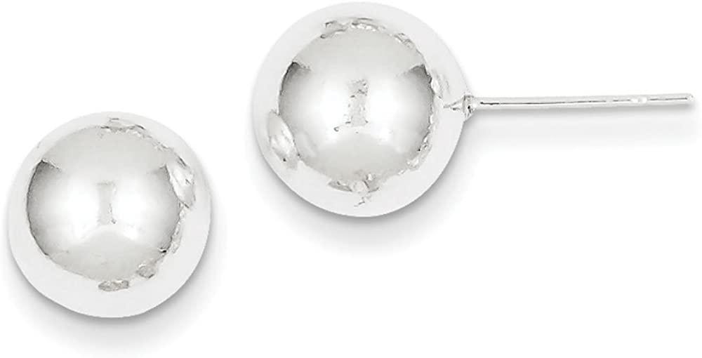 Sterling Silver Polished 10mm Ball Earrings
