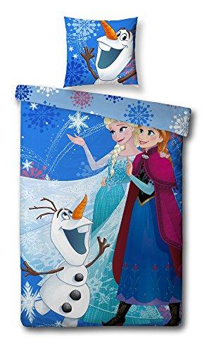 Parure de lit LA REINE DES NEIGES Disney Frozen * Housse De Couette 140x200 cm + taie d'oreiller 60x70cm * NEUF * parure de lit 1 personne / housse de couette réversible