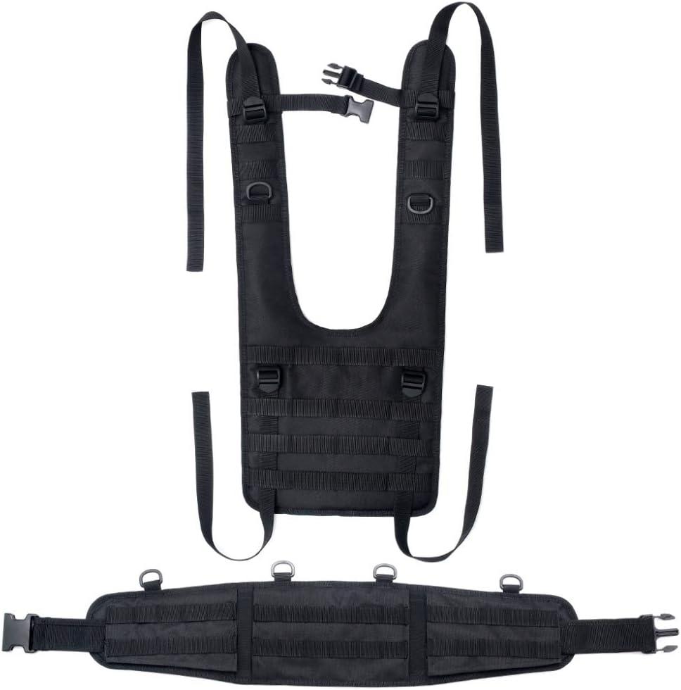 Onewell Ceinture de combat tactique rembourr/ée avec bretelles d/étachables pour airsoft avec coussinets confortables et harnais amovible pour entra/înement en ext/érieur