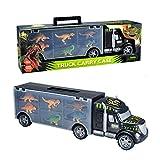 MegaToyBrand Dinosaurs Transport Car Carrier Truck Toy with Dinosaur Toys Inside...