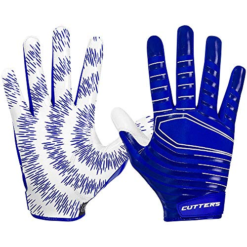 Cutters Rev 2.0 Receiver Gloves, Pair, Youth,Medium,White