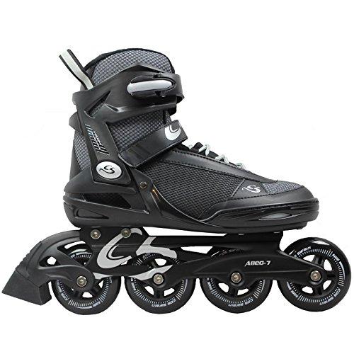 Cox Swain Inline Skates -Morea- Unisex Softboot - ABEC 7, Colour: Black, Size: 40