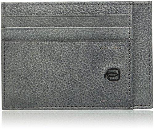 Piquadro Pulse Plus Porta carte di credito, Unisex adulto, Grigio