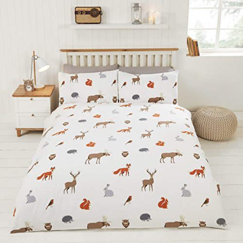 Rapport Country Animals Duvet Set, Double-Multi, Polyester-Cotton
