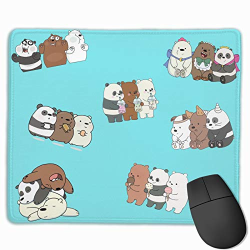 We Bare Bears Custom Gaming Mouse Pad Anime Mouse Mat Desk Pad 9.8x12x0.12inch for Game Players, Office, Study