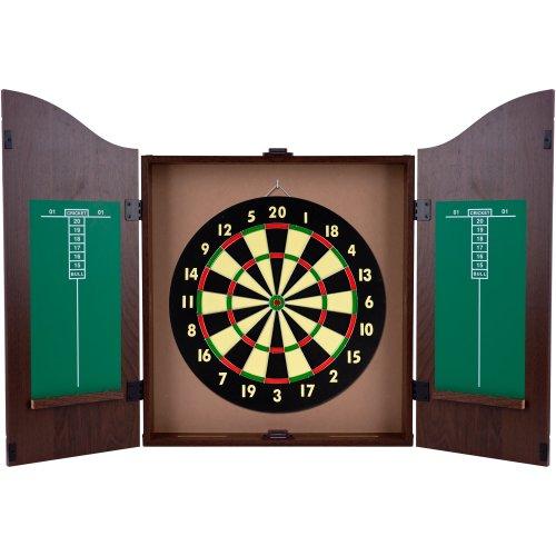 King's Head Dark Wood Dart board Cabinet Review