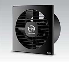 HARMAN INDUSTRIES Euro-4 AXAIL Ventilation/Exhaust Fan 4-inch (100 mm, Black)
