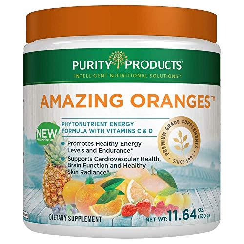 Amazing Oranges Powder 30 Day Supply   Power Packed w/Vitamin C, Vitamin D, Calcium, Magnesium, Potassium, Fiber, Electrolytes & Bio Flavonoids from Purity Products