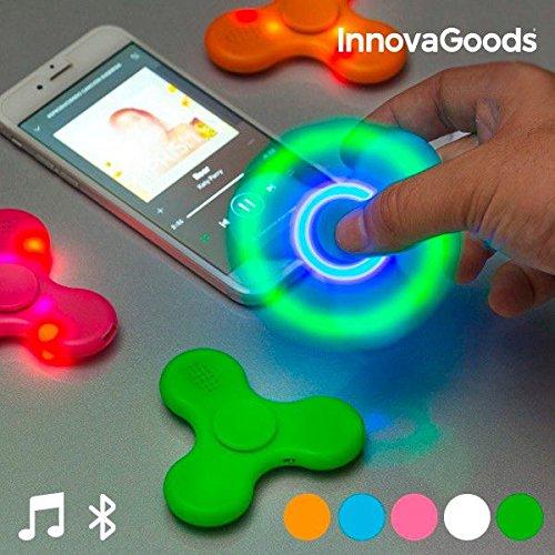 InnovaGoods Spinner LED con Altavoz y Bluetooth, Juguetes,