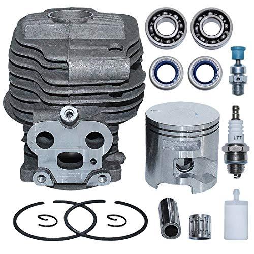 AUMEL Kit de pistón de Cilindro de 51 mm para Husqvarna Partner K750 K760 Sierra de Corte de hormigón Reemplazar 506 38 61-71.