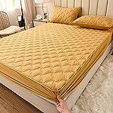BOLO Home - Protector de colchón acolchado impermeable extra profundo para cama, sábanas acolchadas e impermeables con 120 x 200 cm+15 cm