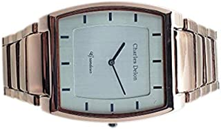 Charles Delon Mens Quartz Watch, Analog Display and Stainless Steel Strap 4892 GNSN