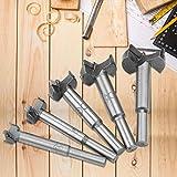 5pcs Per Kit Wood Drill, High Strength 15-35mm Drill Bit, Flat Bit Design for Worker Home