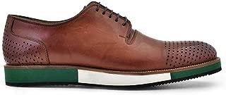 5340-530 KEVA-Antik K.Safran - Lazer Kare Nevzat Onay Bağcıklı Kahverengi Günlük Deri Erkek Ayakkabı