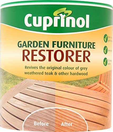Cuprinol Garden Furniture Restorer 1000 ml - Productos para restauración de Madera (1000 ml, Al Agua, 8 m²/L, Muebles, 16 h, Allow to Dry Thoroughly Before applying a Protective Finish.)