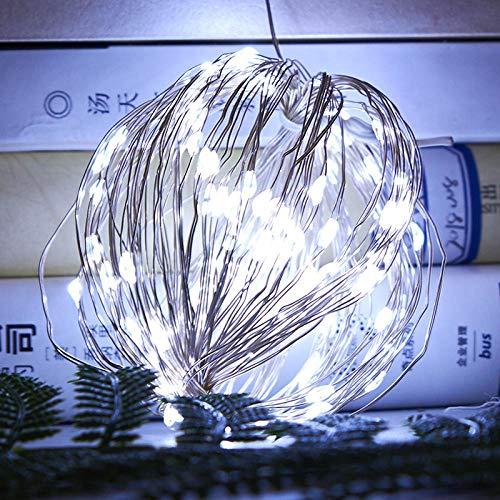 10 M 100 lampjes koperdraad lichtslingers, 8-mode USB afstandsbediening koperdraad lichtslingers, tuinvakantie kerst lantaarn decoratie licht-20 M 200 licht-wit USB