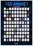 Scrachit Top 100 Anime Rubbel-Poster – 58 x 43 cm –