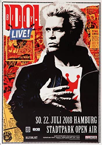 Billy Idol - Revitalized, Hamburg 2018 » Konzertplakat/Premium Poster | Live Konzert Veranstaltung | DIN A1 «