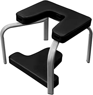 KJRJDL Yoga Inversion Chair for Workout Fitness and Gym Yoga Headstand Bench Stand Yoga Chair Inversion Bench for Family Gym 43x42x37cm (Color : Black)