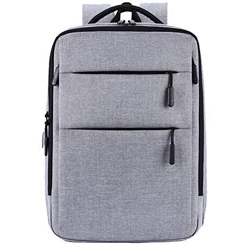 Zakelijke laptop rugzak, zakelijke rugzak tas met USB opladen poort/koptelefoon poort, ultra-dunne lichtgewicht laptop tas, waterdichte school rugzak dames mannen