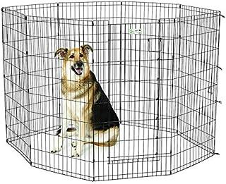 Dog playpen pet metal animal fense MIDWEST 48″ Black color Exercise Pen with Full MAX Lock Door