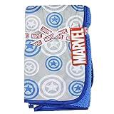 Marvel Captain America Super Soft Fleece 30' x 30' Baby Blanket - Blue
