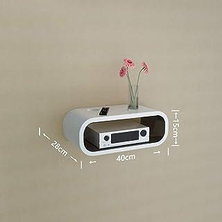 HJJ Los estantes flotantes Montado en la Pared de Medios Caja/módem/Cable Set-Top Caja de la Consola/Consola/TV/Reproducto...