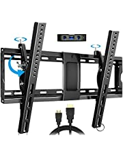 """Everstone Adjustable Tilt TV Wall Mount Bracket for Most 32-86 Inch LED,LCD,OLED,Plasma Flat Screen,Curved TVs,Low Profile,Up To VESA 600x400 and 165 lbs,Includes HDMI Cable and Level,Fits 16"""",18"""",24"""""""