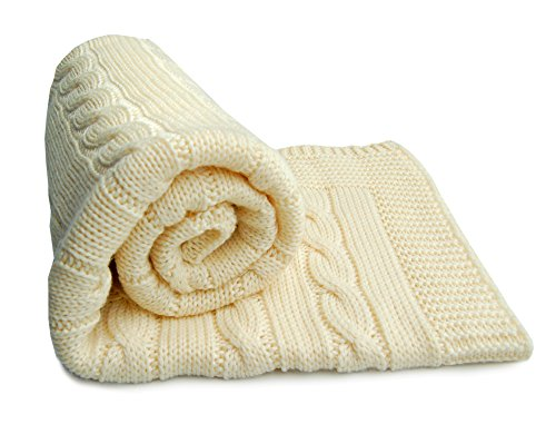 SonnenStrick 100% Organic Merino Wool Baby Blanket Made in Germany (31.5 x 31.5 inch)
