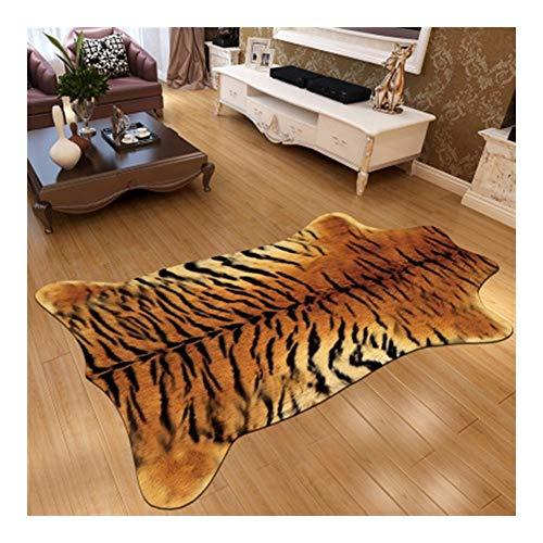 LXESWM Fellteppich Kunstfell Teppich Leopard Animal Print Teppich Home Decor rutschfeste Große...