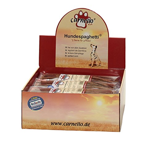 Carnello Hundespaghetti, 2 x 60g-Beutel, der Naturkausnack für Ihren Hund