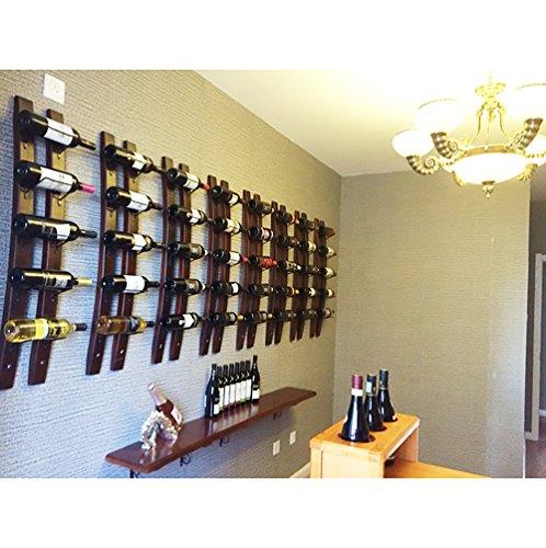 Botellero de pared | Botellero de madera para 5 botellas de vino de madera, estante de vino en la pared para el hogar