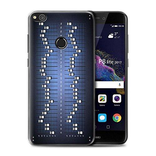 Stuff4 Carcasa/Funda Dura para el Huawei P8 Lite (2017) / Serie: Tecnología Retro - Ecualizador gráfico/eq