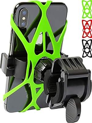 Bike Phone Mount for any Smart Phone: iPhone 11 PRO Max XS XR X 8 7 6 5 Plus Samsung Galaxy S20 S10 S9 S8 S7 S6 S5 Edge, LG. Motorcycle, Bicycle Phone Mount. Mountain Bike Mount. Bike Accessories