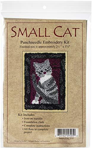 Rachel de Greenfield Rachel de Greenfield Petit Chat Kit de Tapisserie Punch Needle Motif, 2,5 par – 9,5 cm