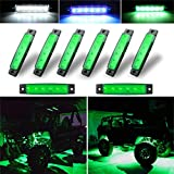 Botepon 8Pcs Led Rock Lights, Strip Lights, Wheel Well Lights, Led Underglow Kit for Golf Cart, Jeep Wrangler, RZR, Offroad, F150, F250, Snowmobile (Green)