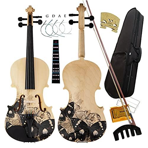 Aliyes Distinctive Artistic Violin Set Designed for Beginners/Students/Kids/adults...