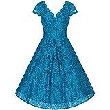 Pretty Kitty Fashion - Vestido - Noche - Sin mangas - para mujer azul turquesa M...