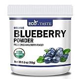 Organic Blueberry Powder, 5.3oz(150g), Freeze Dried Berry Powder, 100% Pure, No Fillers, No Gmo, Vegan Friendly.
