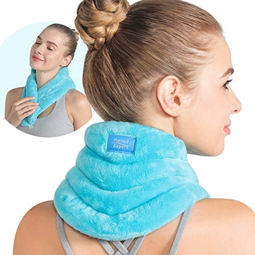 Relief Expert Hands Free Neck Heating Pad Microwavable Heated Neck Wrap for Pain Relief Microwave product image